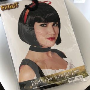 Other - Black wig w bow